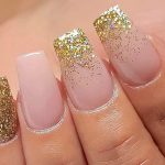 Ideas of Sweet Nude Nails With Glitter That Every Girl Will Love