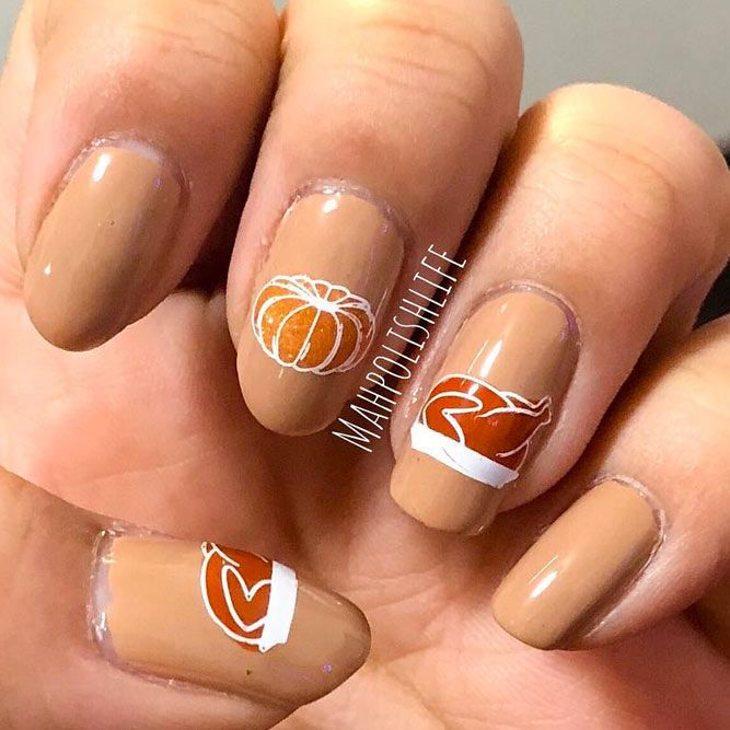 Nude Nails for Your Thanksgiving Mani