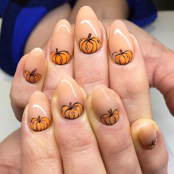 Amazing Thanksgiving Nail Designs with Pumpkins