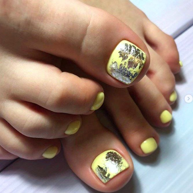 Pastel Yellow Shade For Toes