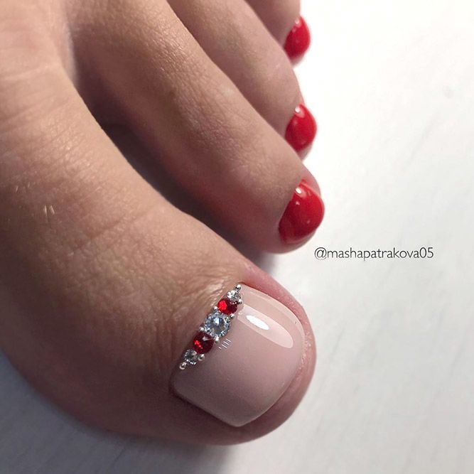 Gorgeous Classic Pedicures In Red