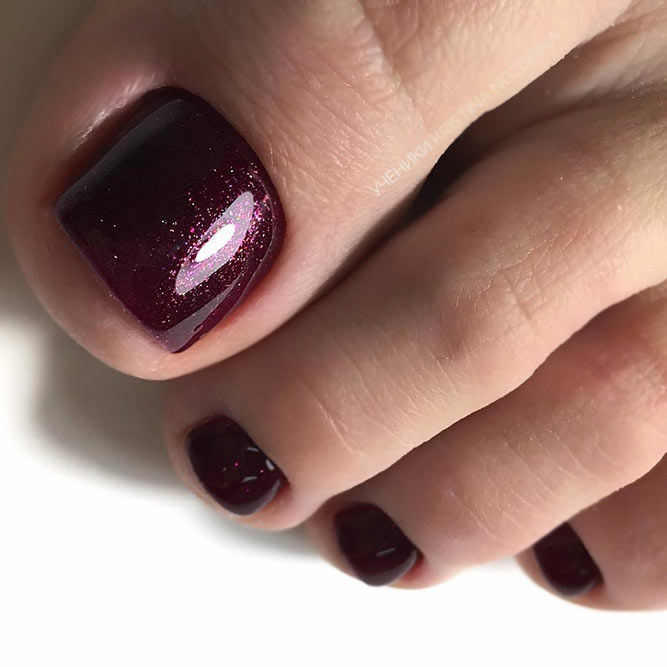Noble Wine Color For Your Toes