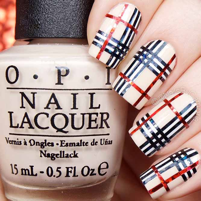 Warm Plaids on Your Nails picture 2