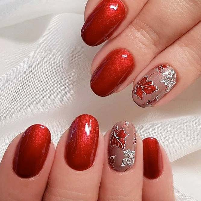 Stylish and Chic Metallic Fall Color Nails picture 1