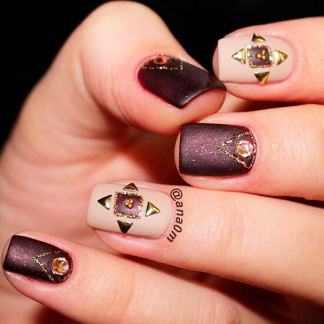 Amazing Brown Shades for Autumn Time picture 1 - 21 Gorgeous Fall Color Nails Designs NailDesignsJournal