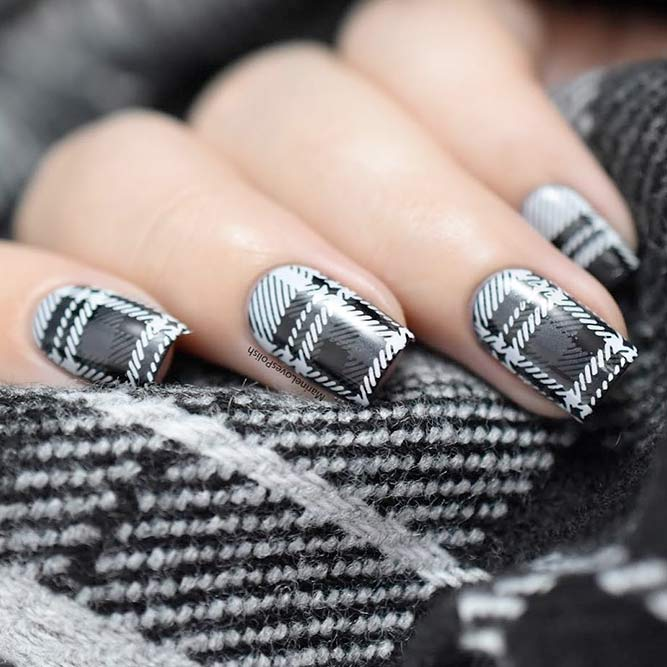 Warm Plaids on Your Nails picture 1