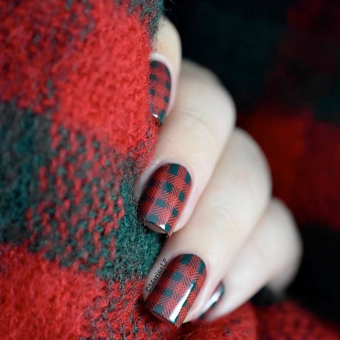 Warm Plaids on Your Nails picture 3