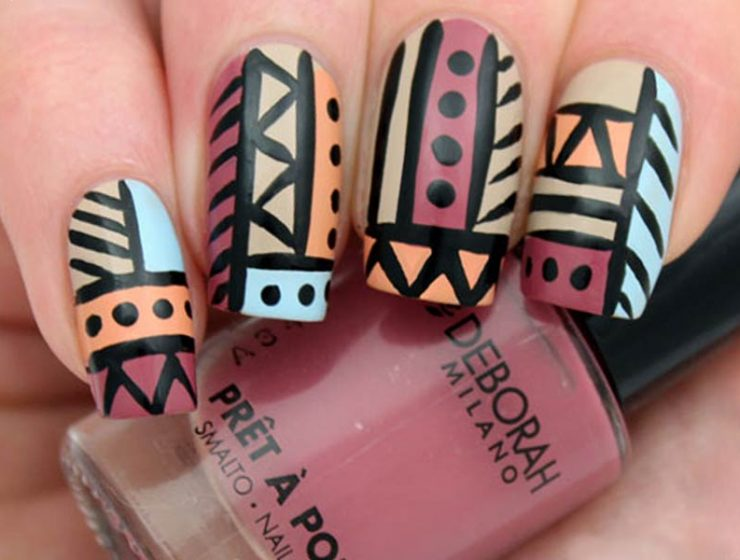 DIY Tribal Nails It is Time to Be Wild