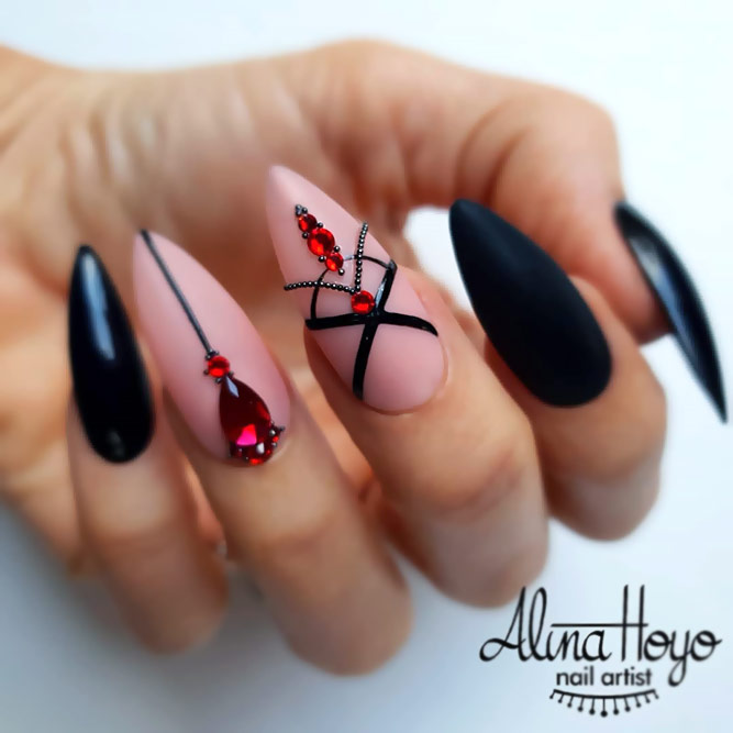 Red & Black Sexy Looks
