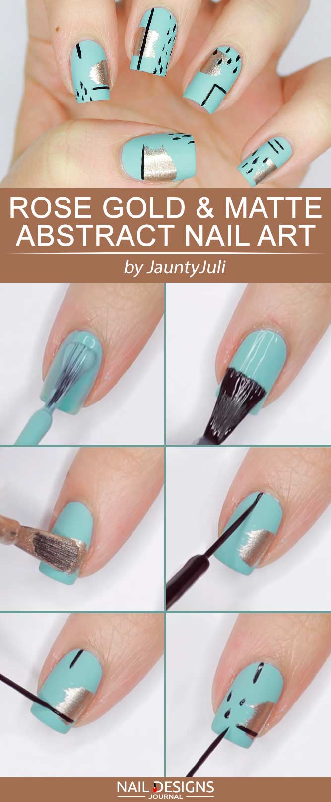 Cute Nails Designs Matte Blue Abstract Art #abstractnails #mattenails #bluenails