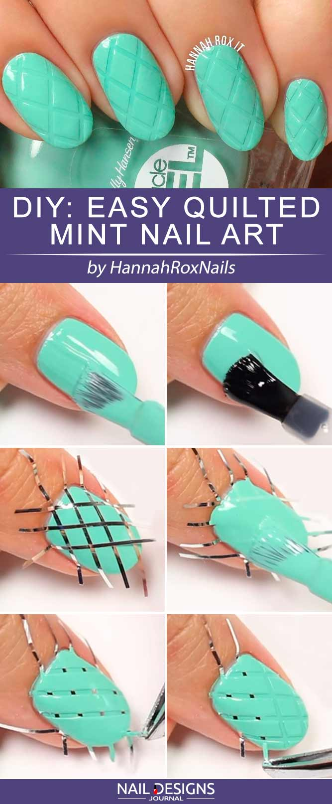 Cute Easy Nail Designs With Quilted Texture