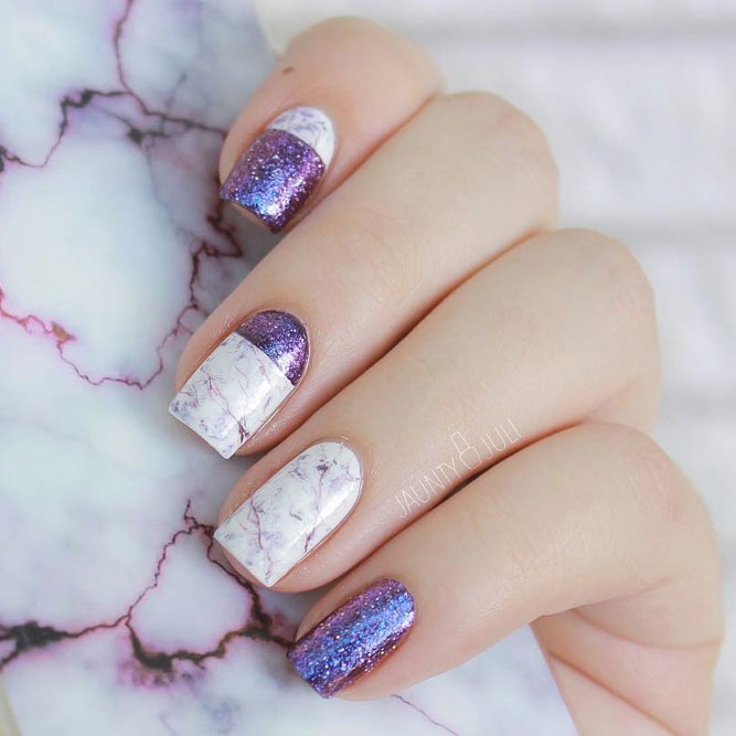Elegant Nails with Marble Designs picture 3