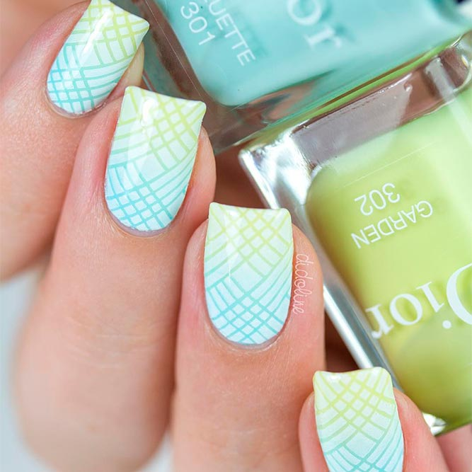 Pretty Nails with Geometric Patterns picture 3