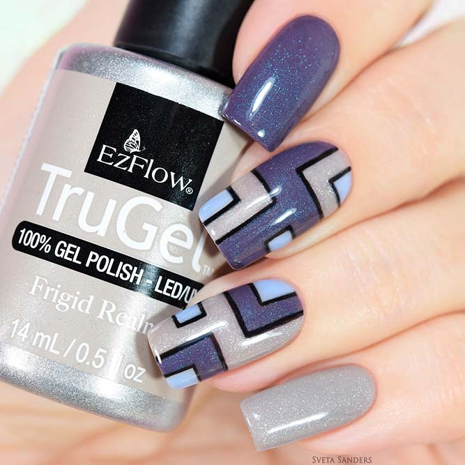 Pretty Nails with Geometric Patterns picture 1