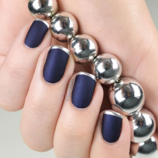 Navy Peony for Your Fall Nail Designs picture 3