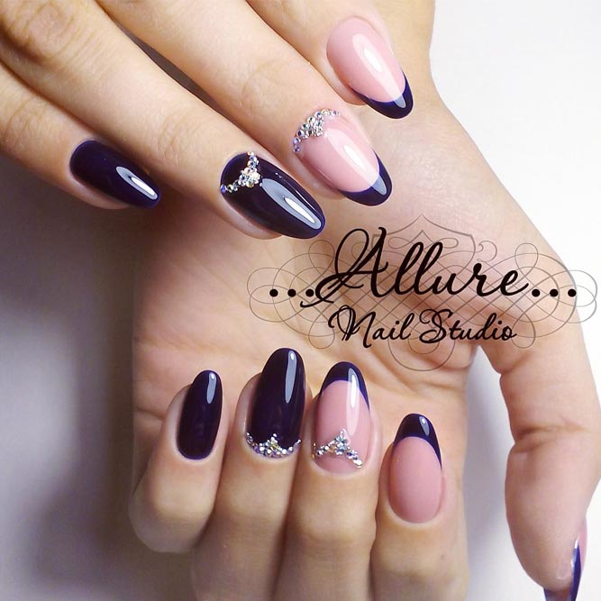 Navy Blue French Tips You Will Wish to Try picture 1