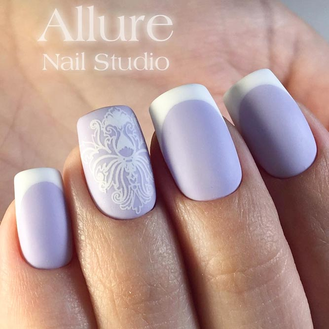 Lavender French Nails Cute and Girly picture 2