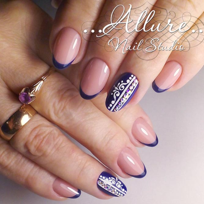 Navy Blue French Tips You Will Wish to Try picture 3