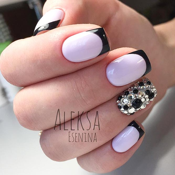 Lavender French Nails Cute And Y Picture 3