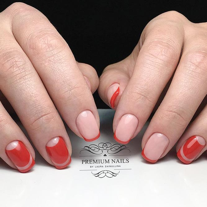 Provocative Red for Your French Tip Nails picture 1