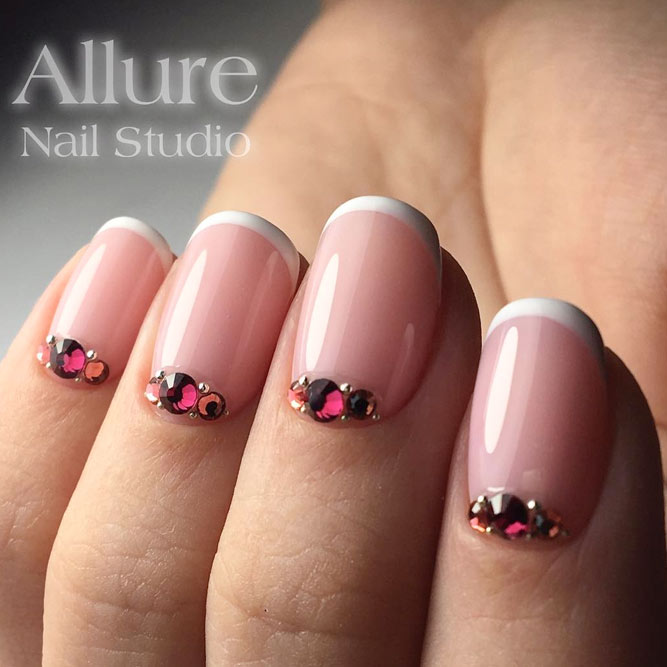 Proven Classics French Nails and Rhinestones picture 1