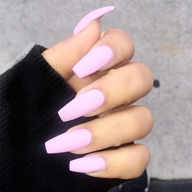 Trendy Simple Matte Pink Nails picture 3