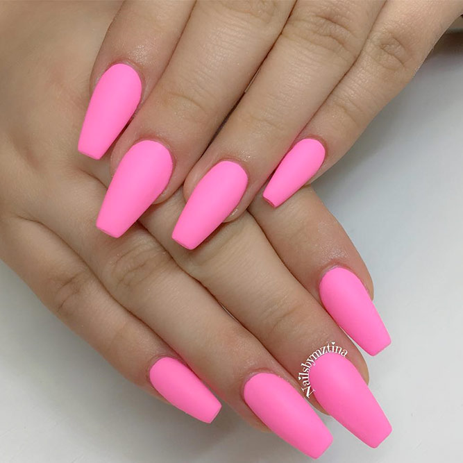 Trendy Simple Matte Pink Nails picture 1