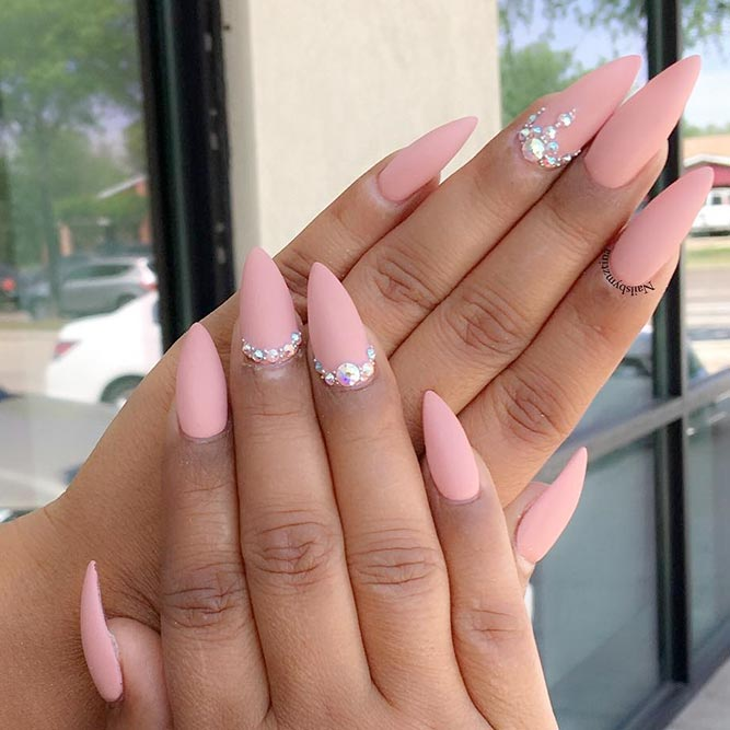 Sweet and Cute Pink Nail Polish picture 2 - 21 Outstanding Matte Pink Nails Designs NailDesignsJournal