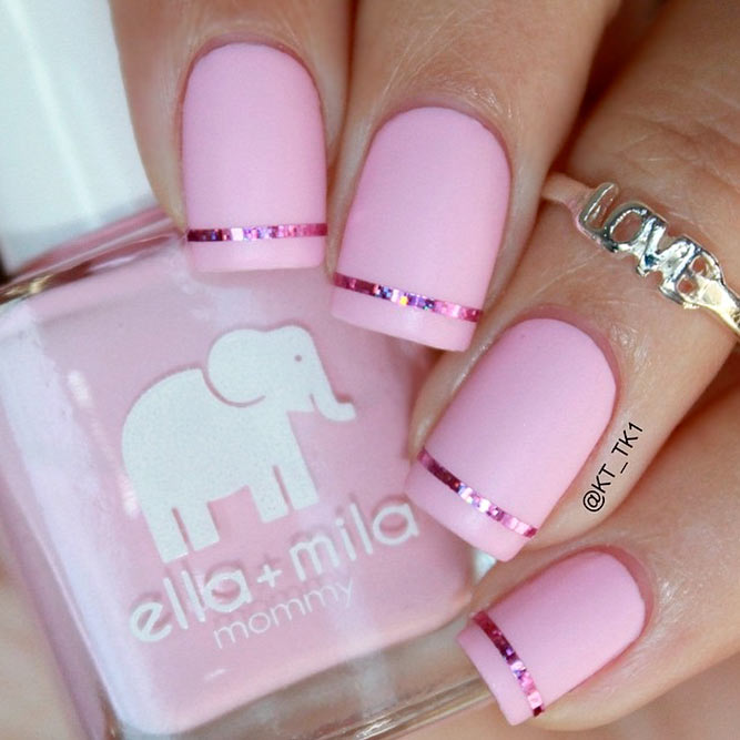 Sweet and Cute Pink Nail Polish picture 1 - 21 Outstanding Matte Pink Nails Designs NailDesignsJournal