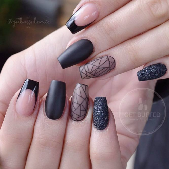 35 Outstanding Short Coffin Nails Design Ideas