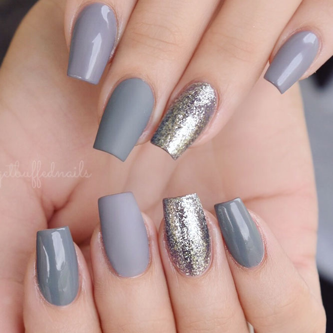 Nail Designs Gray And Pink