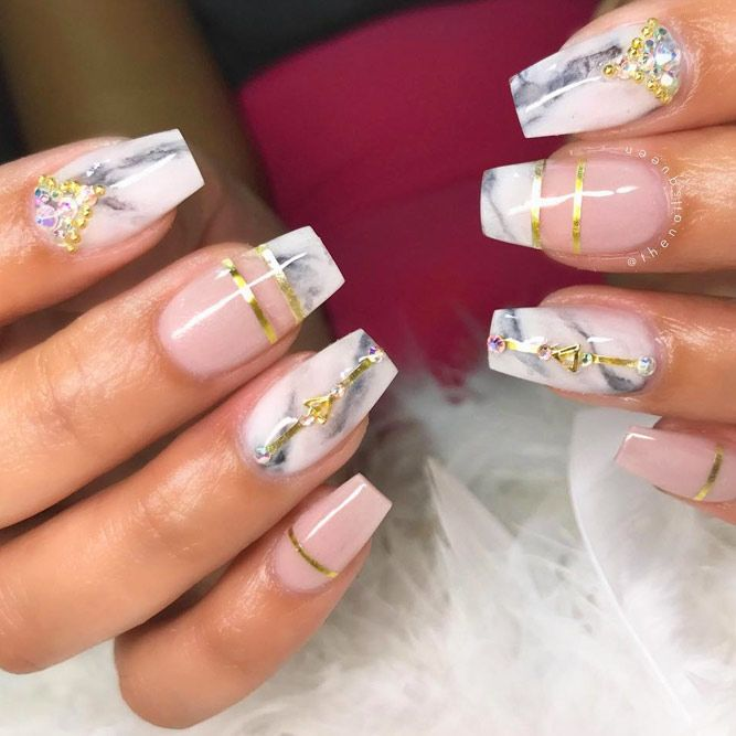 35 Outstanding Short Coffin Nails Design Ideas ...