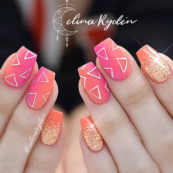 Popular Geometric Design For Your Short Nails