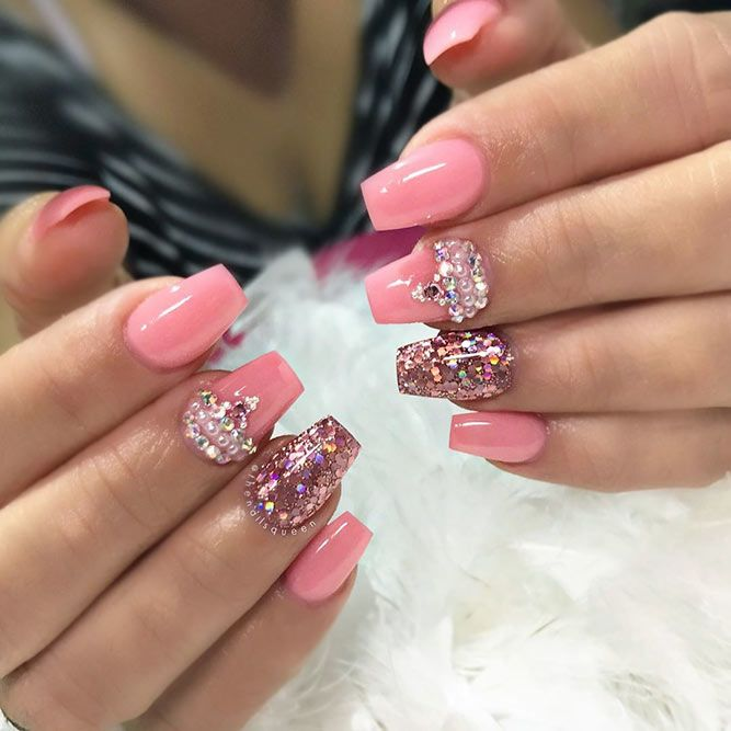 Luxurious Pink Nails