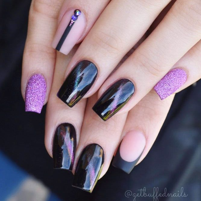 Geometric And Negative Space Nails