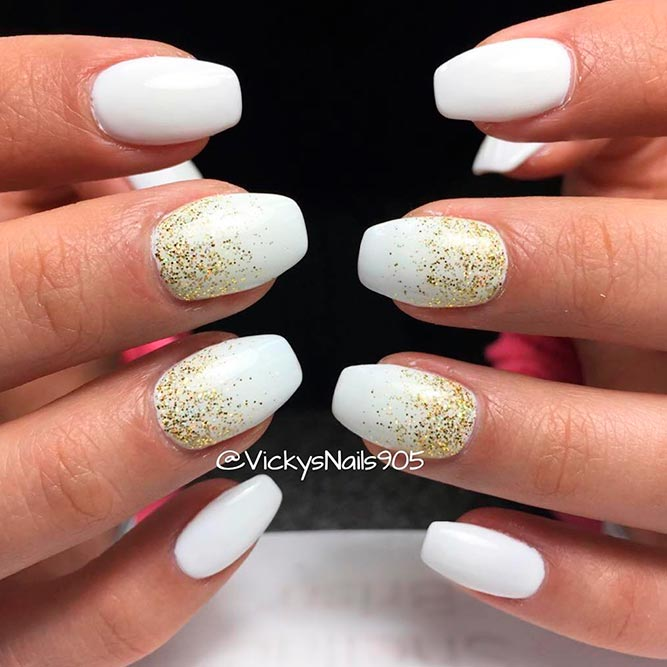 Elegant White For Your Short Coffin Nails picture 2