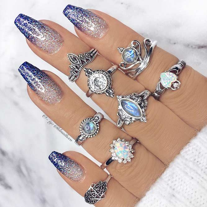 Winter Ombre Nail Designs picture 1