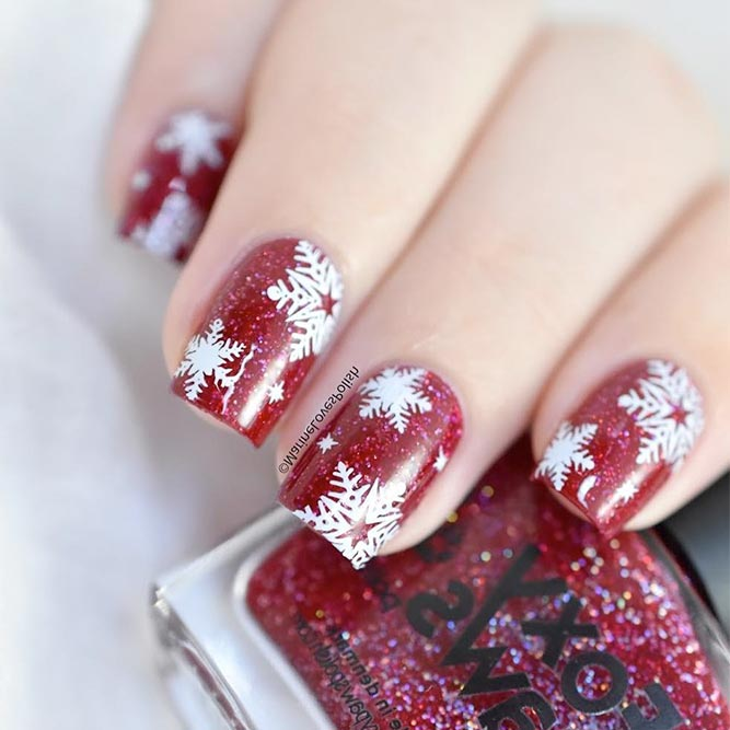 Winter Nail Designs with Snowflakes picture 1