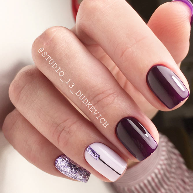 Winter Nail Designs With Thin Lines picture 2