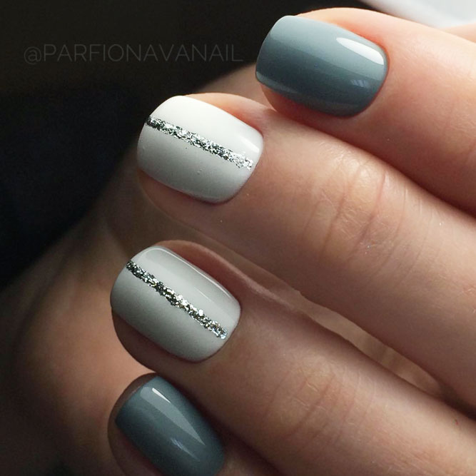 Winter Nail Designs With Thin Lines picture 3