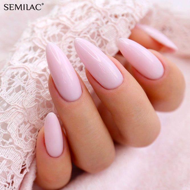Sweet Pastel Pink Nails