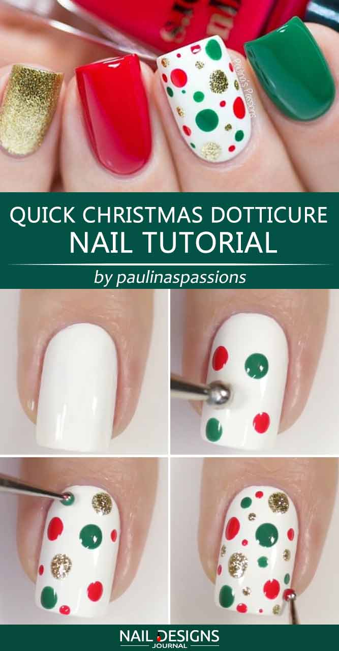 Quick Christmas Dotticure Nail Tutorial