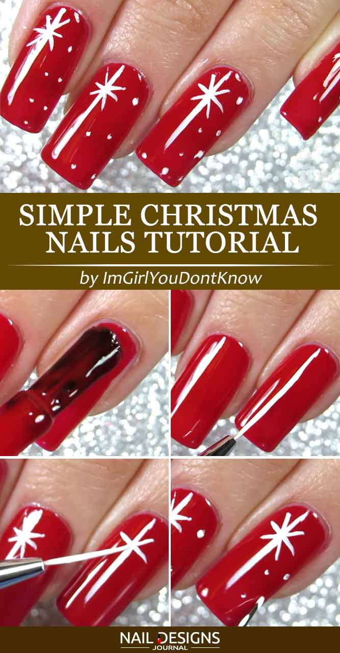 Simple Christmas Nails Tutorial