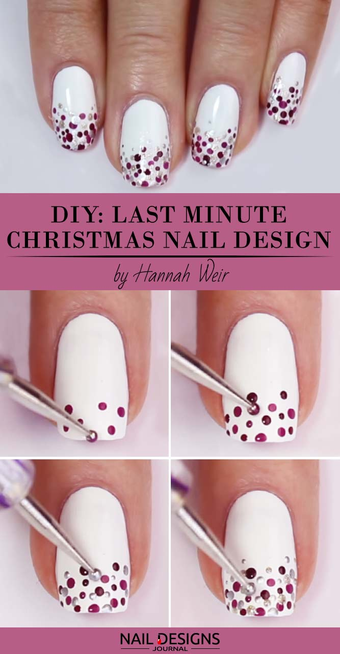 last minute christmas nail art