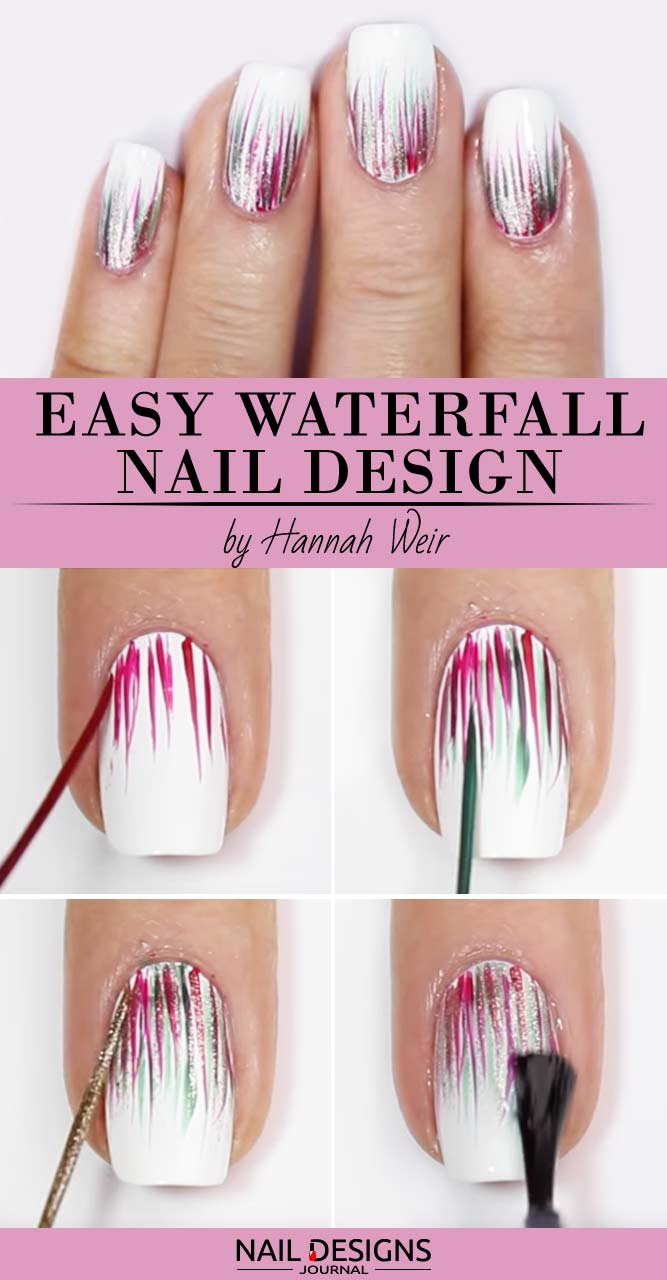 Easy DIY: Waterfall Nail Design