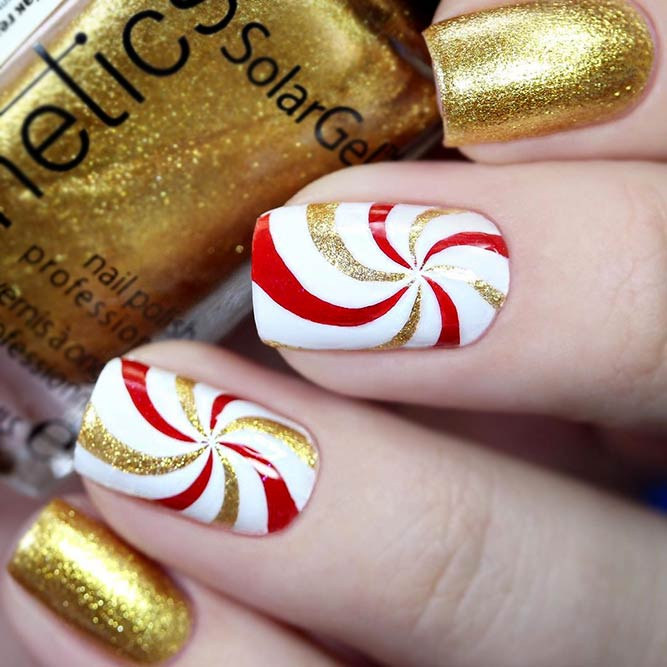 Sweet Candy Christmas Nail Art