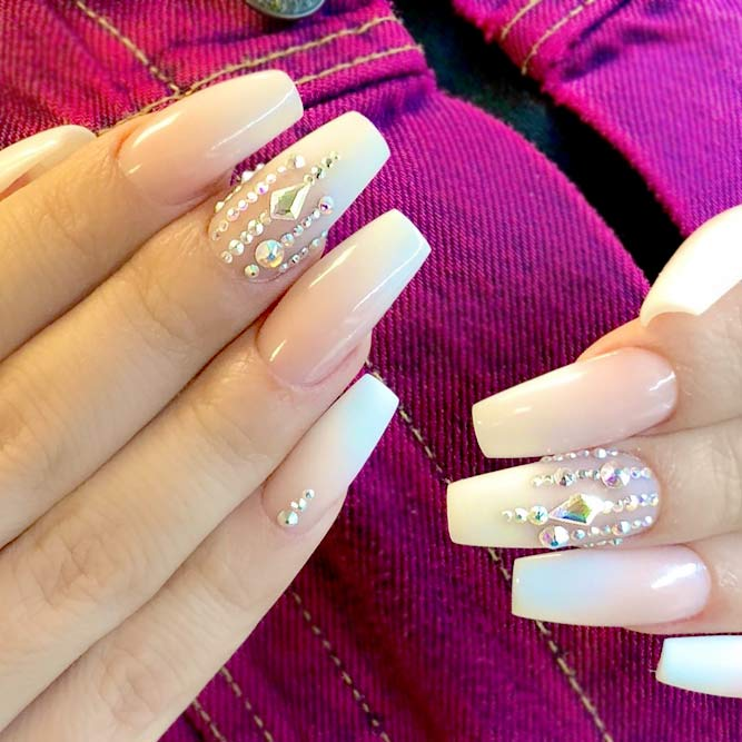 Coffin Tip Nails with French Manicure picture 3