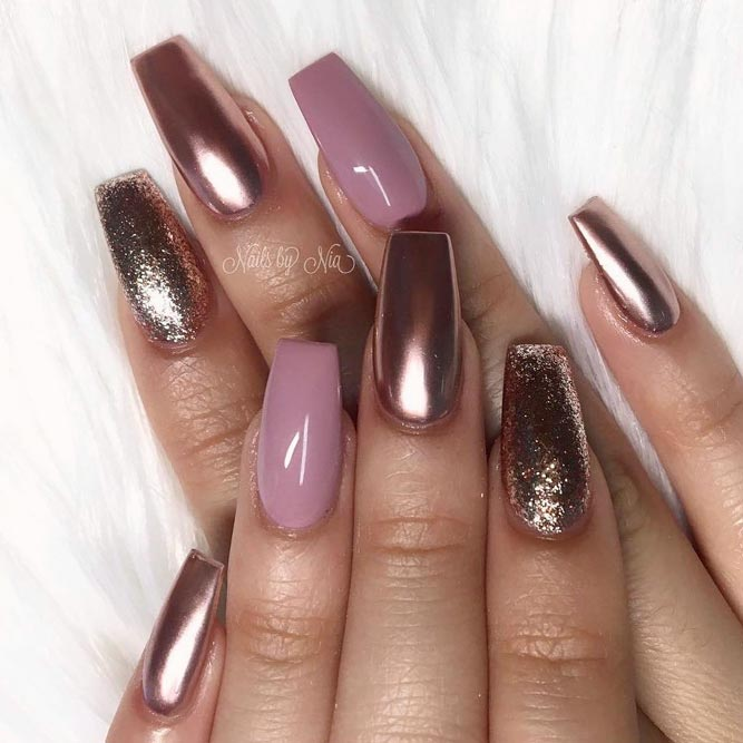 Metallic Designs For Coffin Nail Shape picture 1 - 30 Coffin Nail Designs You'll Want To Wear Right Now