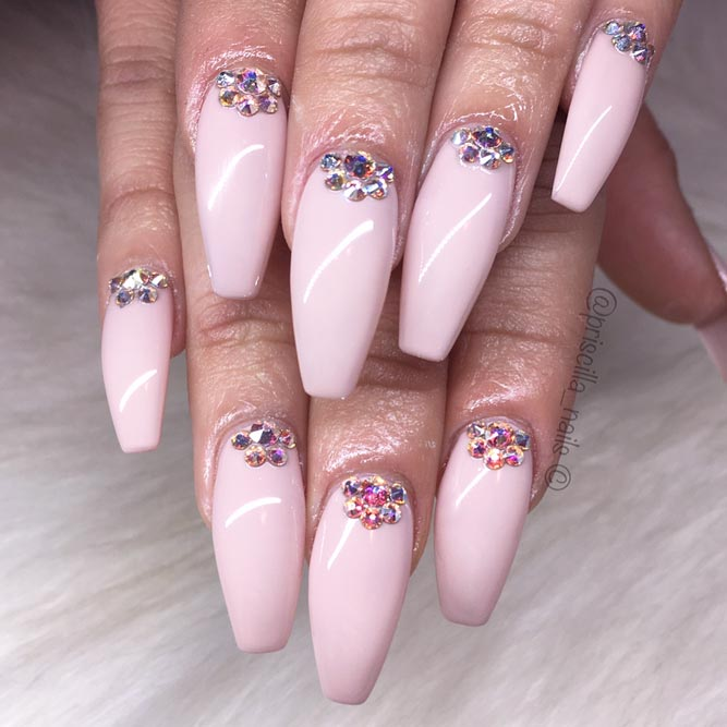 Snazzy Coffin Nails with Precious Stones picture 3
