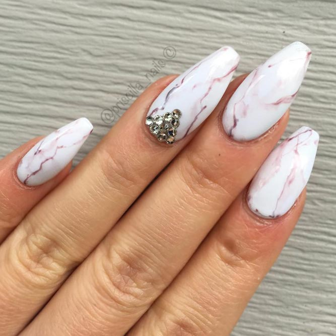 Marble Coffin Nails | Best Nail Designs 2018